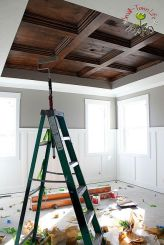 stained coffered ceiling